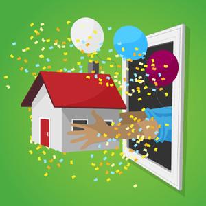 Casa por la ventana